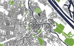 Miasto mapa Wiedeń, Austria Zdjęcie Royalty Free