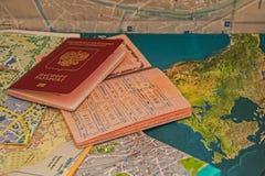 Miasto mapy Fotografia Stock