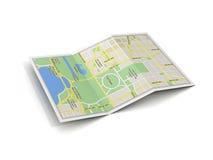 Miasto mapy 3d ilustracja Obrazy Royalty Free