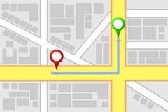 Miasto mapy miejsca przeznaczenia trasa ilustracji