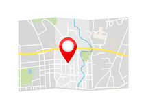Miasto mapy pointeru ilustracja royalty ilustracja