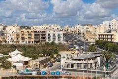 Miasto Marsascala, wyspa Malta, Maj 02, 2016 Obraz Royalty Free