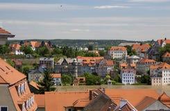 Miasto Meissen Widok Elbe rzeka Zdjęcia Royalty Free