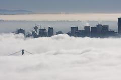 miasto mgła Fotografia Royalty Free
