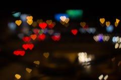 Miasto miłość Kierowy bokeh Obrazy Royalty Free