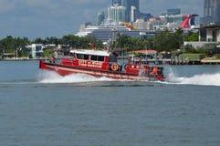 Miasto Miami ogienia łódź ratunkowa obrazy stock
