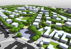 Miasto model ilustracji