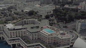 Miasto Monaco Francja morski port miejski Yahts blok statków płaskich i kasyno Monte Carlo zbiory