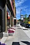 Miasto Montpelier, Vermont stolica kraju, Waszyngtoński okręg administracyjny, Vermont, Stany Zjednoczone USA obraz stock