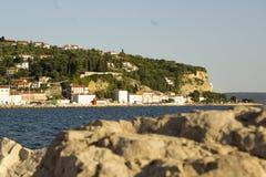 Miasto morzem Obrazy Royalty Free