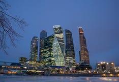 miasto Moscow Russia centrum biznesu zawody międzynarodowe Moscow Obraz Royalty Free