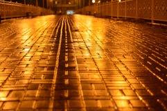 Miasto most przy nocą Zdjęcia Stock