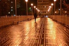 Miasto most przy nocą Zdjęcia Royalty Free