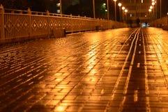 Miasto most przy nocą Fotografia Royalty Free