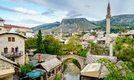Miasto Mostar w Bośnia Obrazy Stock