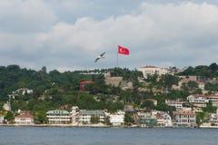 Miasto na morzu śródziemnomorskim Obrazy Royalty Free