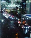 Miasto na nocy Obraz Royalty Free