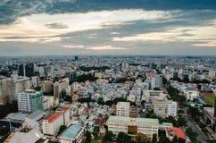 Miasto na popołudniowej wysokości Zdjęcia Royalty Free