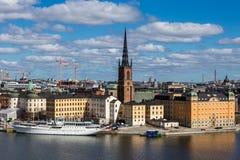 Miasto na wodzie, Sztokholm, Szwecja Obraz Royalty Free