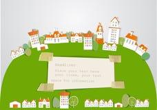 Miasto na wzgórza tle royalty ilustracja