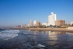 Miasto Nabrzeżna linia horyzontu w Durban Południowa Afryka Fotografia Stock