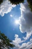 miasto nad słońcem Obraz Royalty Free