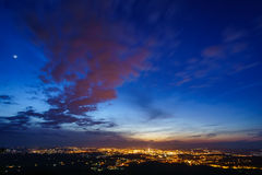 miasto nad sunset Obraz Royalty Free