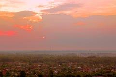 miasto nad świtem Zdjęcia Stock