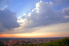 miasto nad świtem Zdjęcie Royalty Free
