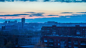 miasto nad zachodem słońca zdjęcie wideo