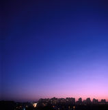 miasto nad zmierzchem Zdjęcia Stock