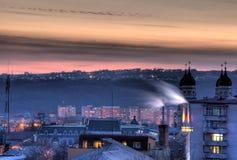 miasto nad zmierzchem Zdjęcie Royalty Free
