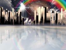 miasto nadziemski ilustracji