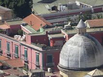 Miasto Naples od above Napoli Włochy obrazy royalty free