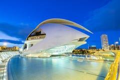 Miasto nauki w Walencja i sztuki, Hiszpania Zdjęcia Royalty Free