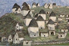 Miasto nieboszczyk w Północnym Ossetia-Alania Kaukaz, Rosja Fotografia Royalty Free