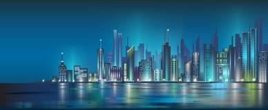 miasto noc royalty ilustracja