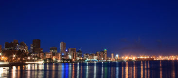 miasto nocą Obrazy Royalty Free
