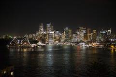 miasto noc Sydney Australia Zdjęcie Royalty Free