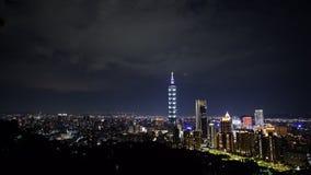 Miasto noc Taipei, Tajwan zbiory