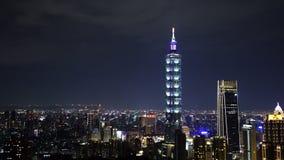 Miasto noc Taipei, Tajwan zdjęcie wideo