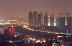 Miasto noc widok Obrazy Royalty Free