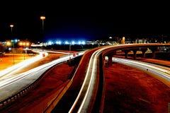 Miasto noce w Lubbock tx fotografia royalty free