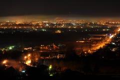 Miasto nocy światła Obrazy Royalty Free