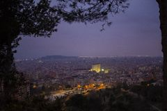 Miasto nocy światło Fotografia Stock