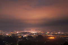 Miasto nocy scena Fotografia Stock