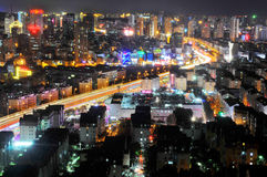 Miasto nocy scena Fotografia Royalty Free