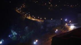 Miasto nocy sceny panorama zdjęcie wideo