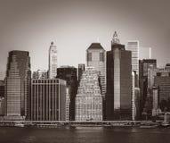 miasto nowa linia horyzontu York Zdjęcia Stock