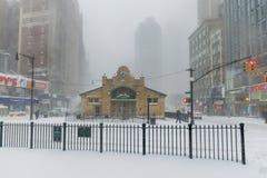 miasto nowy śnieżny York Zdjęcia Royalty Free